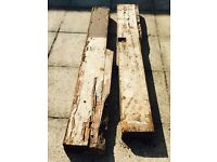 Reclaimed railway sleeper x 2