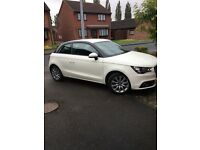 Audi a1 1.2TFSI in creamy white with black roof line £8900