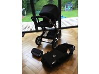 Buffalo bugaboo pram with baby carrycot, bag and raincover. Very good condition.