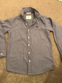 Boys blue shirt, long sleeve, jasper J Debenhams!