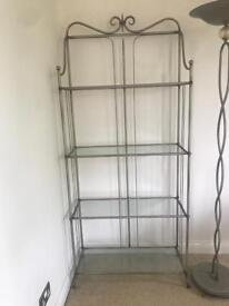 Shelves unit shelf display with glass shelves (can deliver)🚚🚚