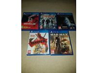 PS4 Games Bundle / All In Excellent Condition