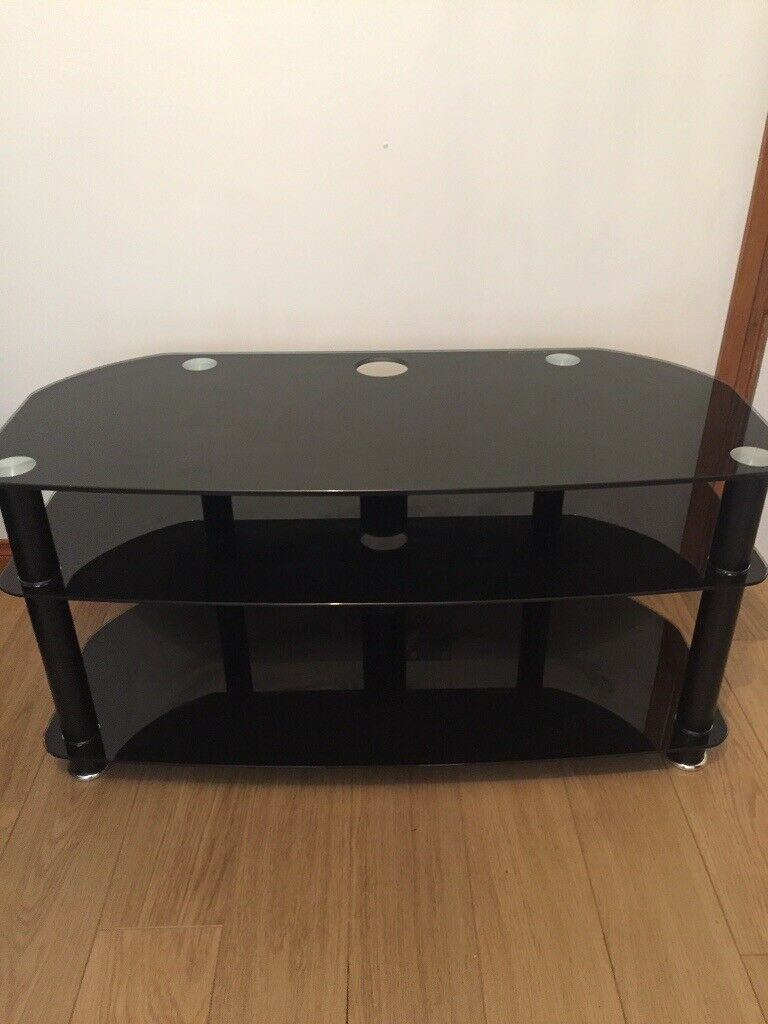 Terrific Large Black Glass Tv Stand 40 Inch Like New In County Antrim Gumtree Uwap Interior Chair Design Uwaporg