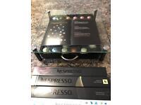 Fusoris - High quality Tempered glass Nespresso coffee capsule drawer holder plus 47 coffee pods