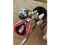 Gold Clubs, Bag, Trolley, Golf Balls