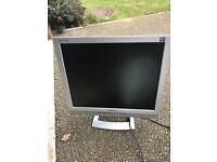 Grey computer monitor