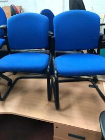 Blue Canter Leaver Fabric Chairs