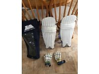 CRICKET PADS, BAG & GLOVES