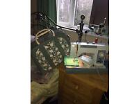 Jones semi-industrial heavy duty electric sewing machine with stitches patterns plus case working