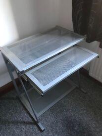 Computer Work Station Plus Matching 3 Drawer Unit
