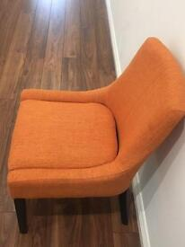 MADE Percy scoop back chairs x 4