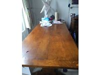 Solid wood dining table and sideboard
