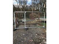 BRAND NEW heras Fencing pedestrian gate 3.5m x2m driveway , herras Harris dog chicken pen