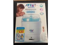 Avent Electric Express Steamer Steriliser with instructions and measuring jug; very good condition