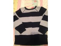 Boys sweatshirt, size 4-5 from gap, navy and light blue stripes