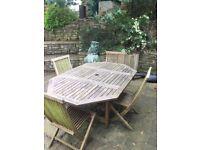 Teak Garden Table Set