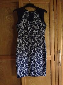 Warehouse navy Lace dress