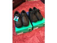 2 pairs brand new pod shoes black mens size 7 uk