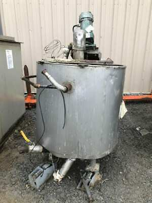 100 Gallon Stainless Steel Jacketed Mixing Tank W Lightnin Nld-50 Mixer