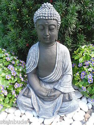 Buddha Stein Gartenfigur Feng Shui Steinfigur Holzfigur Holz 3