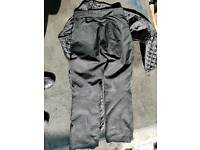 motorbike trousers black with armour and lining