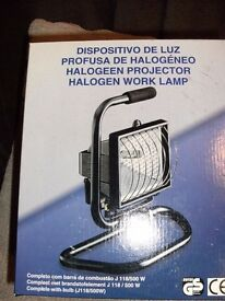 HALOGEN WORK LAMP (New & Boxed)