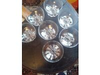 Glass ice cream / dessert bowls. Set of 7 glass dishes