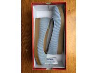 Navy/White Striped Wedge Shoe