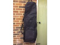 TRAVEL BAG COVER WITH WHEELS FOR GOLF CLUBS BLACK - NEW