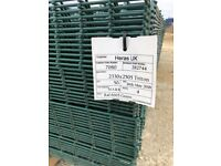 Steel mesh fence panels and posts