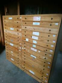 Printers 32 Drawer Cabinet