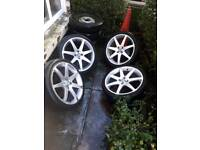 4x100 alloy wheels vw polo vauxhall astra seat Ibiza honda civic rover fitment