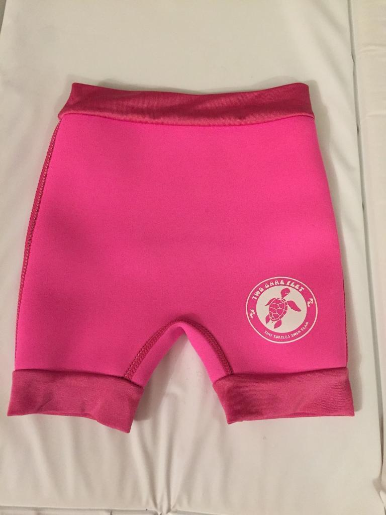 Pink neoprene reusable swim nappy
