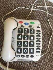 Lge button telephone