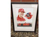 Michael Schumacher Print, framed