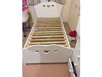 Single bed frame for girls- white