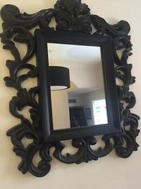 Next black ornate mirror