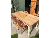 Used large Cotswold oak table and chairs