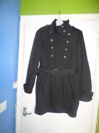 Ladies George Black Coat Plus Size 18