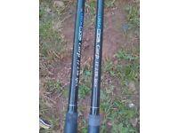 Job lot fishing tackle 2 leeda 2xl matching carp rods