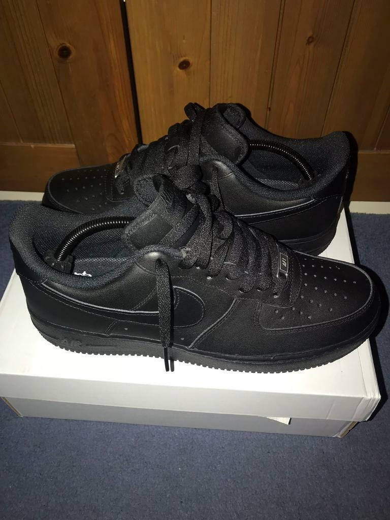 reputable site 2d78b 3ae76 Nike Air Force 1 Black Size 10