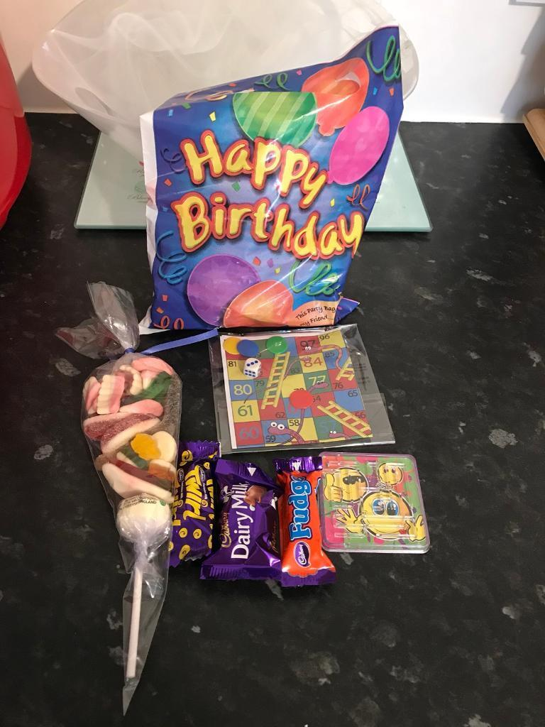 Taking orders now kids per filled party bags 50p each