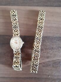 Ladies rotary matching watch and bracelet