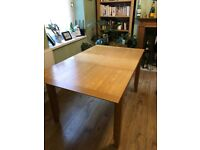 John Lewis Oak 4-6 seat extending dining table & chairs