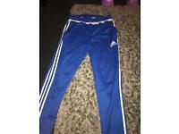 Blue addidas traccies