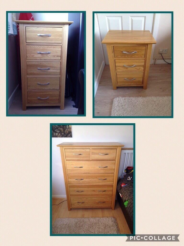 Tall Dresser Drawers Bedroom Furniture Solid Oak Bedroom Furniture 6 Drawer Unit 5 Drawer Tall Boy And