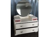 Refurbished shabby chic dressing table with crackle glaze