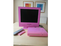 Pink Portable TV & DVD Player - Ideal for Girls Bedroom
