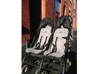 Preloved Chicco ecco twin stroller for sale