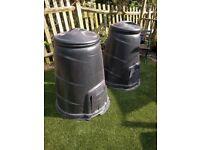 Blackwall 330 litre Black Compost bins